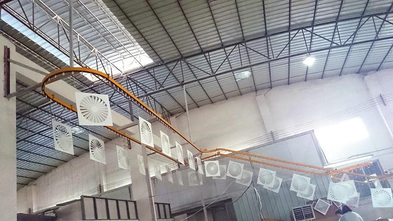 Air Volume Hvac Square Swirl Diffuser Ventilation Swirl
