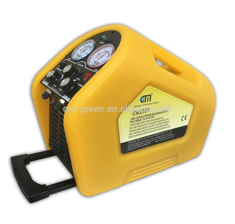 full automatic ac car r134a portable refrigerant recovery recharging