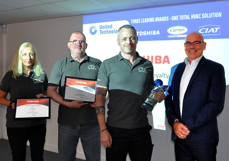 Toshiba Carrier UK Honours Cool Designs for Distribution Milestone