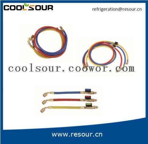 Coolsour Charging Hose for Manifold Gauge Set R22, R12, R134A, R410A