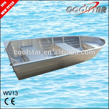 all welded aluminum jon boat with square gunwale and rubber