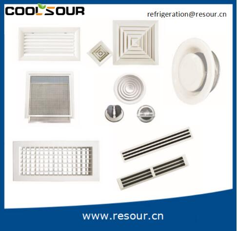 COOLSOUR Newest Air Conditioning Vents Square With Damper