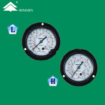 Axial pressure gauge without glycerine for R134a R22 R404A