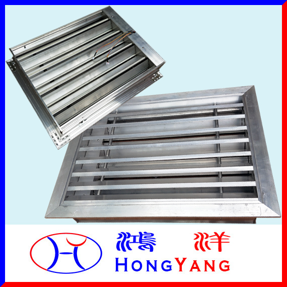 Electric control Fixed air louver with Motorized control air