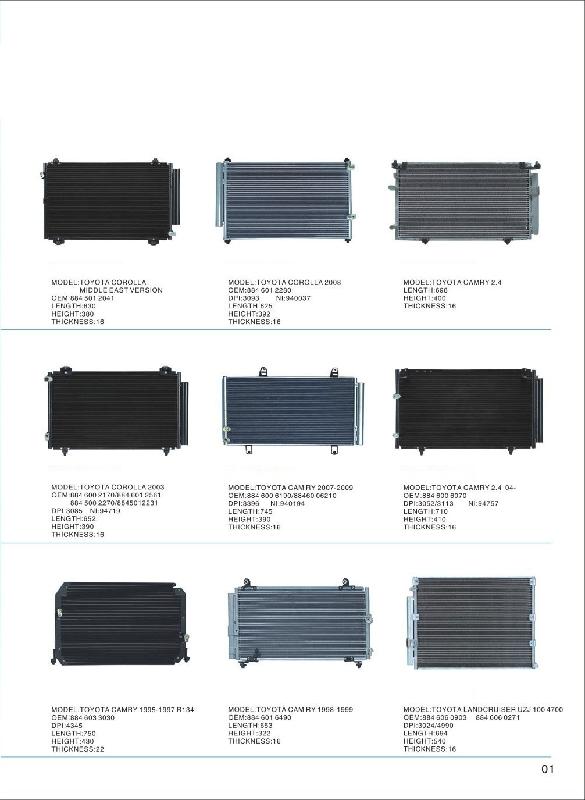 Auto ac parts condenser for Citroen C4 - Coowor com
