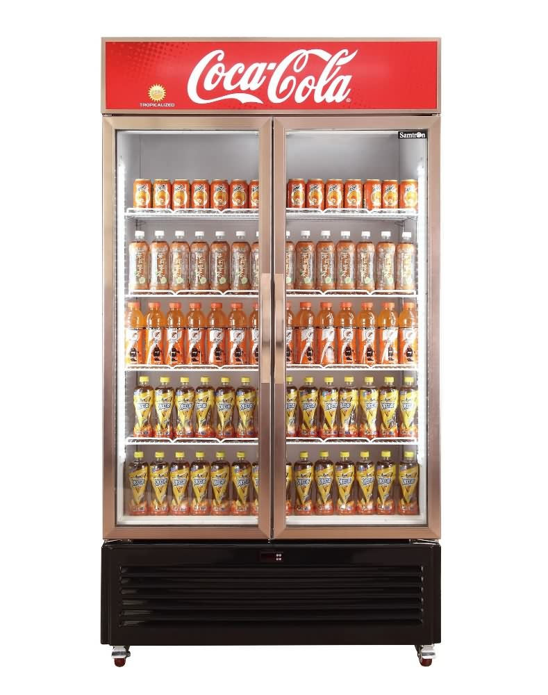 Altaqua Showcase Refrigerator Of 2 Glass Door Upright Vertical Type For Soft Drink Beer Pepsi Cola