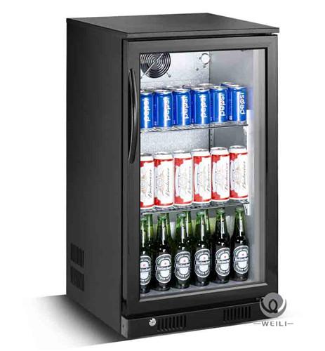High Quality 118L Single Glass Door Beer Back Bar Cooler Fridge