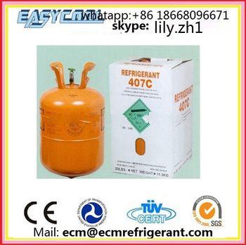 Refrigerant Gas R407 Replacement R22 R134A R404A R410a R507