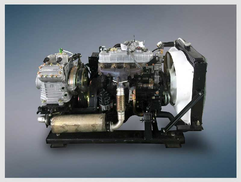 Tata and Ashok Leyland Bus AC Unit with Sub engine for Bus air