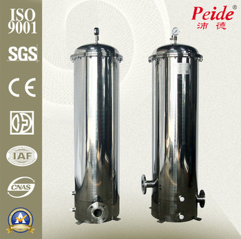 Stainless steel pleated backwash cleaning water filter