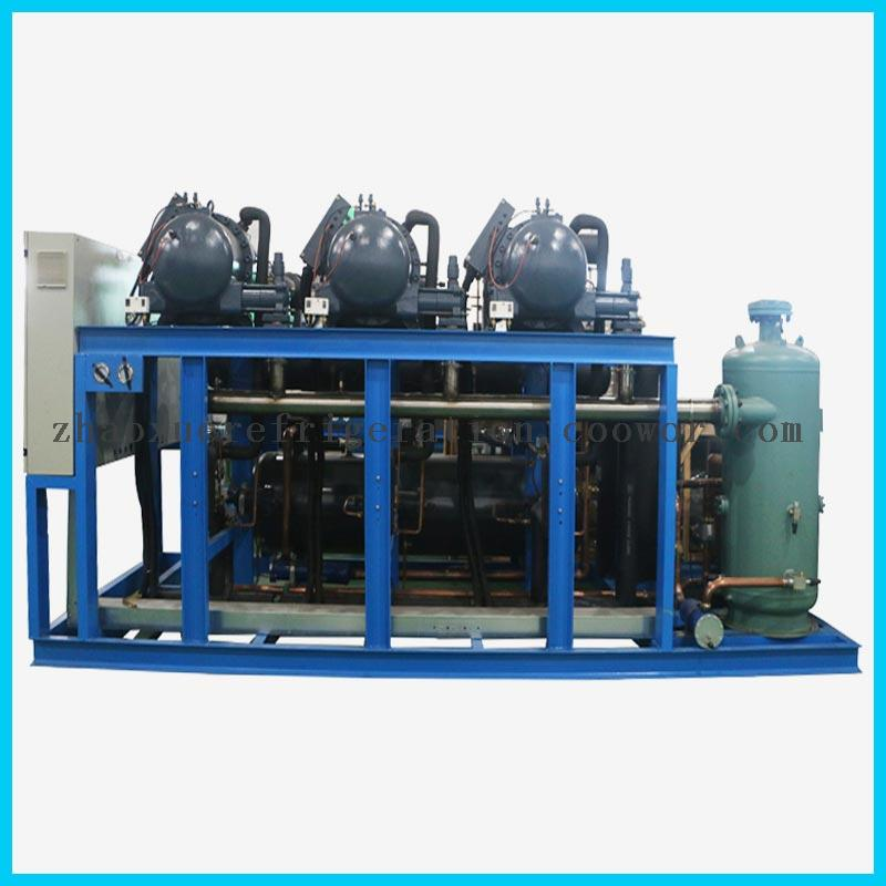 Semi-Hermetic Compressor Unit for Low Temperature