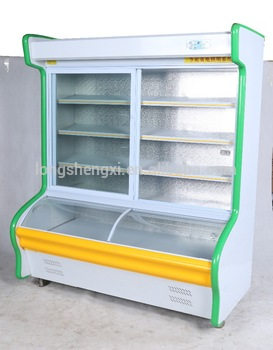 Commercail luxury upright refrigerator for vegetable and