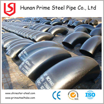 ASTM A234 ms pipe elbows fittings price per ton with customized